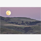 Full Moon Rise Over Grizzly Stock Image, Southern Oregon