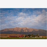 Red Barn under Wallowa Mountains 2 Stock Image, Joseph, Oregon