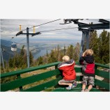 Ski Lookout at Wallowa Lake Stock Image, Joseph, Oregon