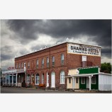 Shaniko Ghost Town Stock Image, Northern Oregon