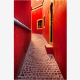 Orange Alley Seduction Stock Image, Guanajuato, Mexico