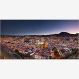 Guanajuato Dawn Panorama Stock Image, Guanajuato, Mexico