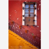 Guanajuato Window And Stairs Stock Image, Mexico