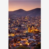 Guanajuato Blue And Gold Stock Image, Mexico
