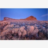 Winter Dawn At Fort Rock Stock Image, Oregon