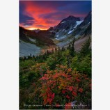 Unforgettable Fire Stock Image, North Cascades NP, Washington