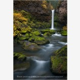 Outlet Falls Stock Image, Glenwood, Washington