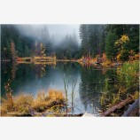 Rite Of Autumn Stock Image, Hidden Lake, Washington