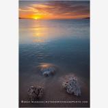 Sea Of Cortez Sunrise 4 Stock Image, Baja, Mexico