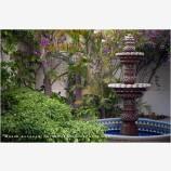 Garden Fountain 2 Stock Image, Baja, Mexico