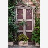 Garden Door Stock Image, Baja, Mexico