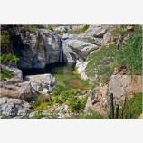 Fox Canyon Waterfall 2 Stock Image, Baja, Mexico