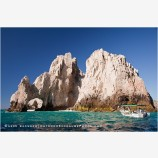 Land's End And Boat Stock Image, Baja, Mexico