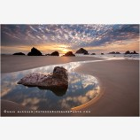 Teardrop of Sky Stock Image, Bandon, Oregon