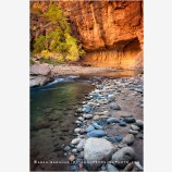 Virgin River Narrows 1 Stock Image, Zion National Park