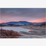 Emigrant lake Sunset III Stock Image, Ashland, Oregon