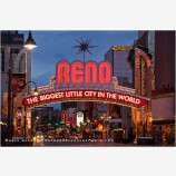 Reno At Night 8 Stock Image, Nevada