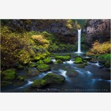 Outlet Falls II Stock Image, Glenwood, Washington