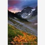 Cascade Pass Sunrise 1 Stock Image, North Cascades National Park