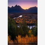 Light Of The West Stock Image, Grand Tetons, Wyoming