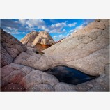 The Water In The Stone Stock Image, White Pocket, Arizona
