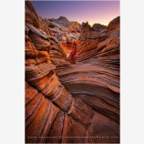 Sandstone Perspectives Stock Image, White Pocket, Arizona