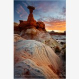 Rim Rock Sunrise Stock Image, Grand Staircase-Escalante, Utah