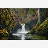 Punch Bowl Falls Stock Image, Columbia Gorge, Oregon