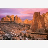 Hint Of Winter Stock Image, Smith Rock, Oregon