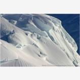 Kahiltna Ice Forms II Stock Image, Alaska