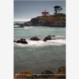 Crescent City Lighthouse 2 Stock Image, California