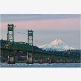 Hood River Bridge and Mt. Hood 1, Oregon