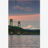 Hood River Bridge and Mt. Hood 2, Oregon