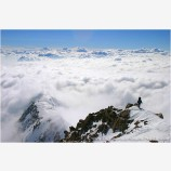 A Walk In The Clouds Stock Image, West Buttress, Mt. McKinley, Denali National Park, Alaska