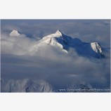 Mt. Hunter's Two Summits Stock Image, Denali National Park, Alaska
