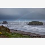 Ocean Rainbow Stock Image, Bandon, Oregon