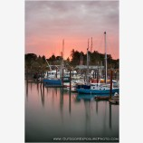 Bandon Harbor Sunrise Stock Image, Bandon, Oregon