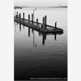 Bandon Crab Dock Black and White Stock Image, Bandon, Oregon
