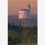 Coquille River Lighthouse Stock Image, Bandon, Oregon