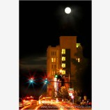 Full Moon Over Ashland Stock Image, Ashland, Oregon