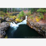 Upper Rogue At Woodruff Bridge In Fall Stock Image, Rogue River,  Southern Oregon