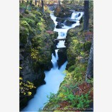 Rogue Gorge In Fall Stock Image, Rogue River, Oregon