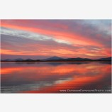 Klamath Lake Sunrise Stock Image, Klamath Falls, Oregon