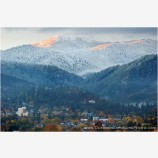 Early Snow On Mt. Ashland Stock Image, Ashland, Oregon