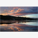 Hyatt Lake Sunrise I Stock Image, Ashland, Oregon