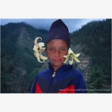 Portrait of a Nepali Boy Stock Image, Nepal