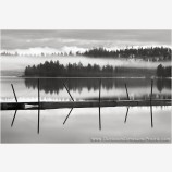 Dock And Mist Stock Image, Hyatt Lake, Oregon