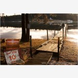 Private Dock Stock Image, Hyatt Lake, Oregon