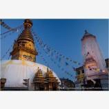 Monkey Temple, Swayambhunath Stock Image, Kathmandu, Nepal