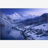 Early Light On Cho Oyu And The Third Gokyo Lake Stock Image, Dudh Pokhari, Nepal
